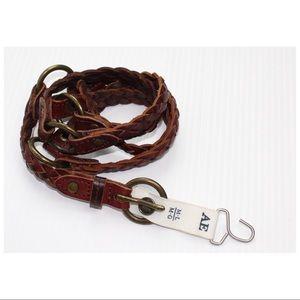 NWT American Eagle Genuine Leather Braided Belt